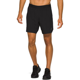 "asics Road Short 2-N-1 7"" Homme, performance black"